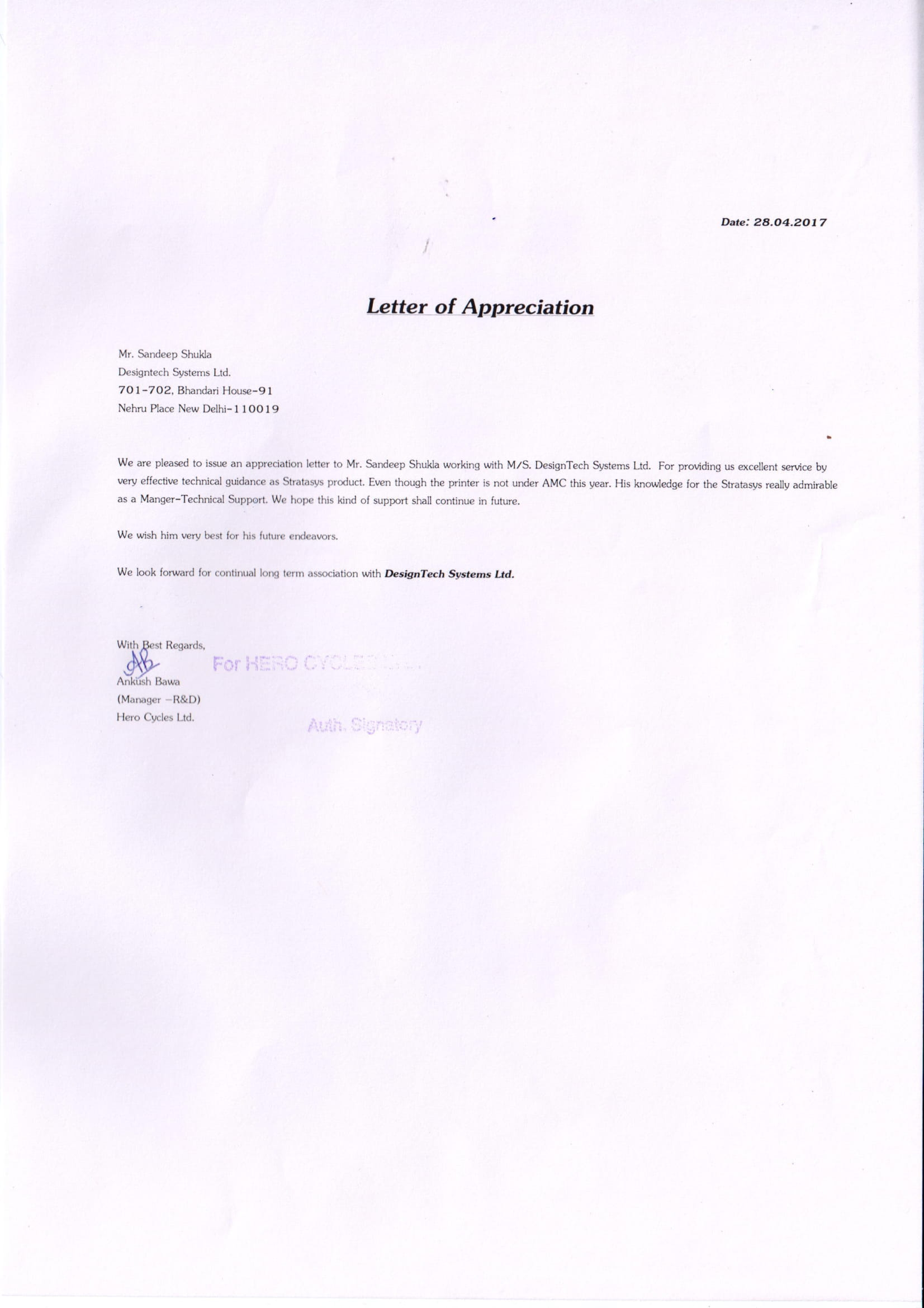 letters in pdf format for services    training provided by